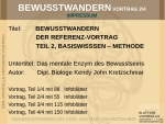 802-03 Bewusstwandern Vortrag Teil 2 - Methode (Download)